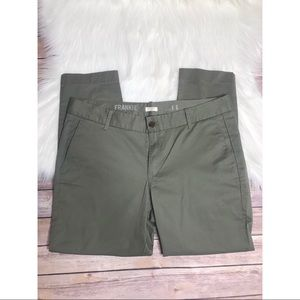 J Crew olive green Frankie chino pant